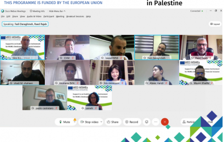 EU-funded MED MSMEs programme : Developing a roadmap for the internationalisation of SMEs in Palestine