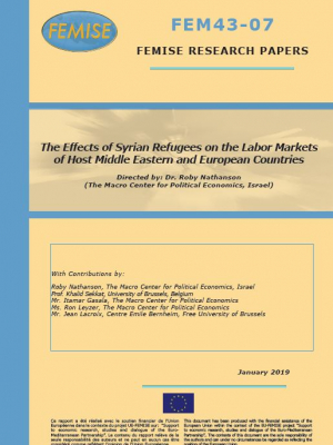 FEMISE Research paper FEM43-07 : Effects of Syrian Refugees on Labor Markets of Host Middle Eastern and European Countries