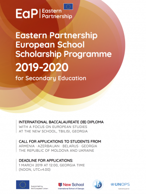 Eastern Partnership European School Scholarship Programme 2019-2020 – fact sheet