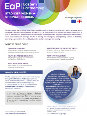 Stronger women: stronger Georgia – factsheet