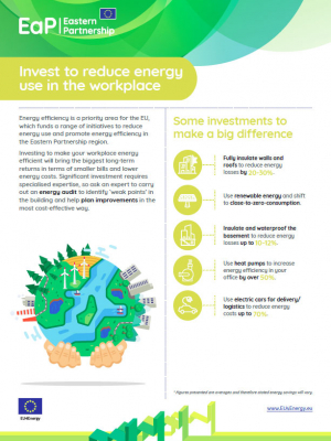 EU4Energy: Invest to reduce energy use in the workplace