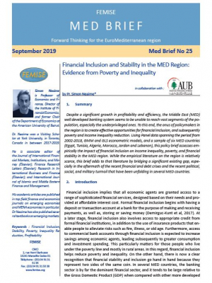 FEMISE MED BRIEF 25: Financial Inclusion and Stability in the MED Region
