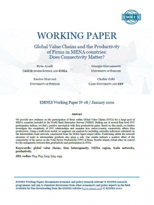 EMNES Working Paper 028 - Global Value Chains and the Productivity of Firms in MENA countries:  Does Connectivity Matter?