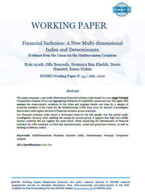 EMNES Working Paper 34 - Financial Inclusion: A New Multi-dimensional Index and Determinants - Evidence from the Union for the Mediterranean Countries