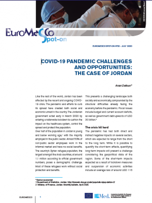 Euromesco Spot-on 20 - COVID-19 Pandemic Challenges and Opportunities: The Case of Jordan