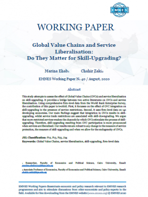 EMNES Working Paper No 40 - Global Value Chains and Service Liberalisation: Do They Matter for Skill-Upgrading?