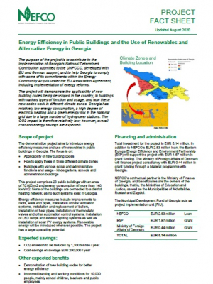 Factsheet: Energy Efficiency in Public Buildings in Georgia