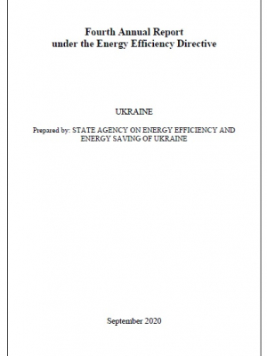 Fourth Annual Report under the Energy Efficiency Directive