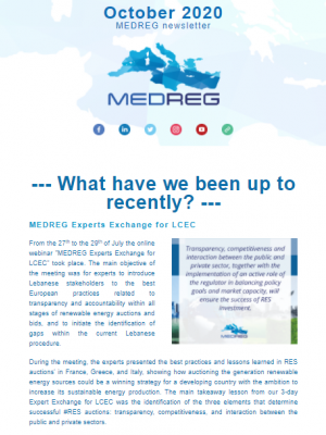 MEDREG newsletter – October 2020