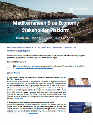 Biannual Flash News on Blue Economy – Issue 9 - Mediterranean Blue Economy Stakeholder Platform