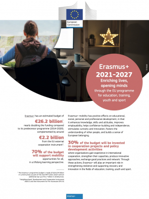 Erasmus+ 2021-2027: enriching lives, opening minds