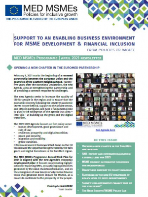 Med MSMEs Programme – April 2021 newsletter
