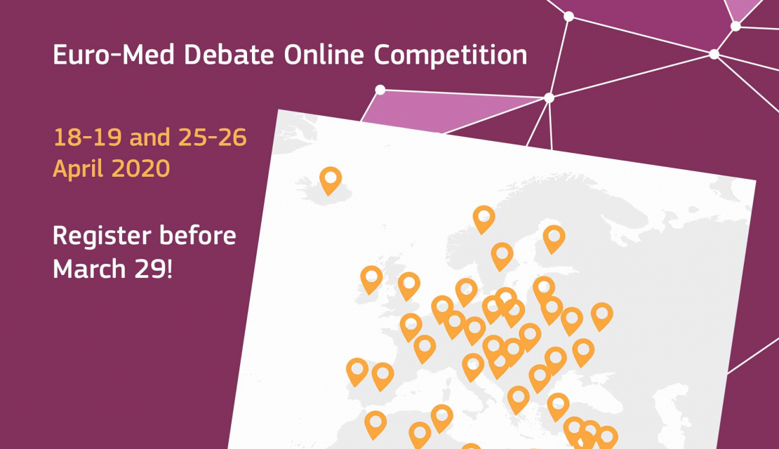 Second Online Euro-Med Debate Competition: register before 29 march