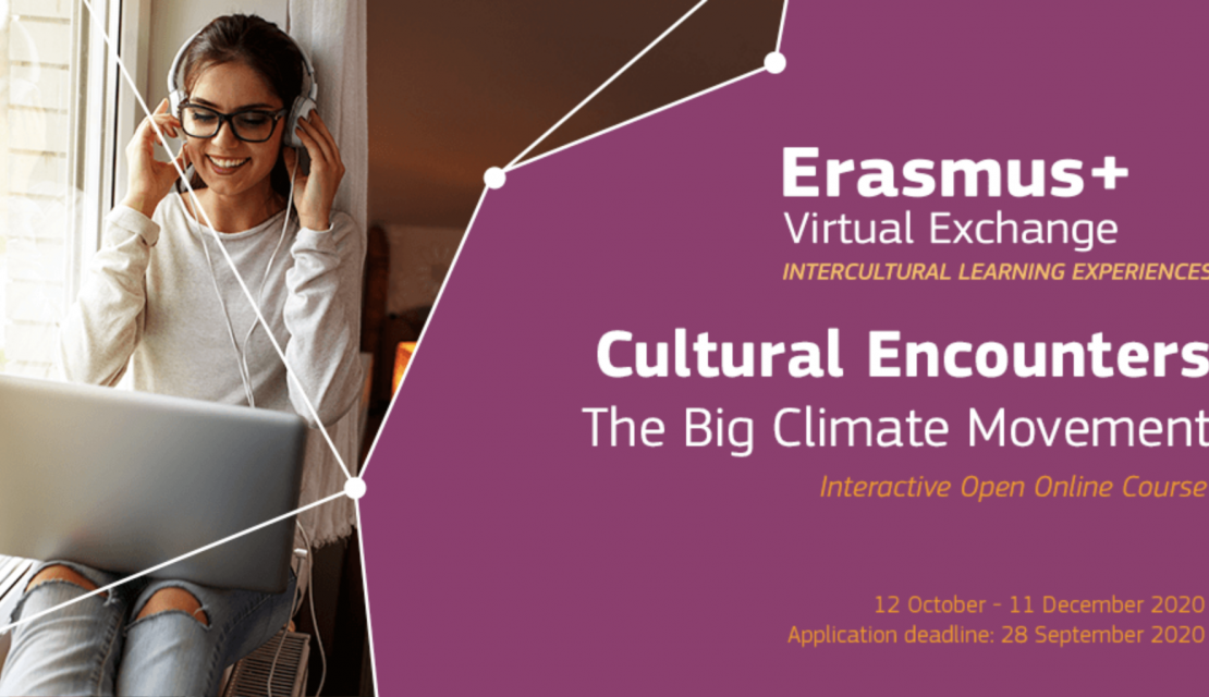 Erasmus+ Virtual Exchange launches new course: 'Cultural Encounters: The Big Climate Movement'