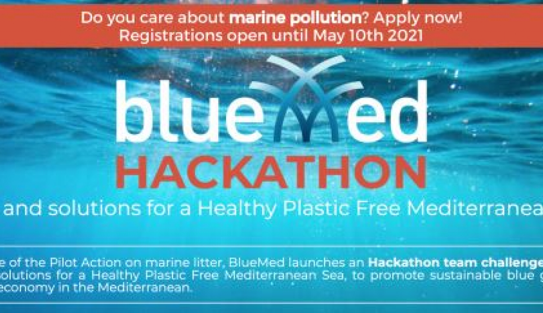 Take part in Hackathon to develop solutions for plastic free Mediterranean sea