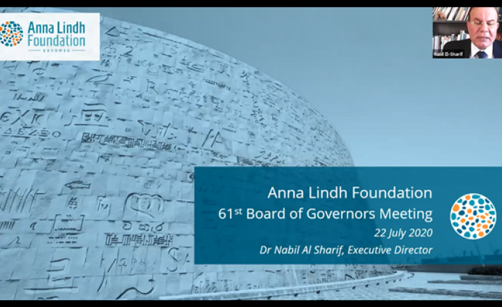 Anna Lindh Foundation Board of Governors: 285 activities implemented since march