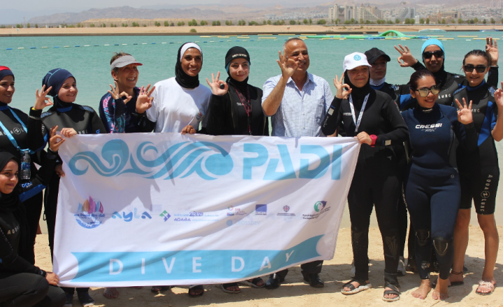 Jordan: For sustainable tourism and women empowerment, CROSSDEV takes part in PADI Women's Dive Day 2020