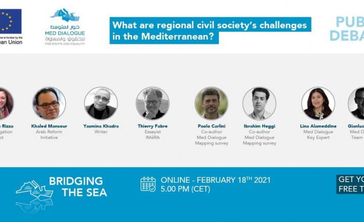 EU-funded online public debate to examine civil society's challenges in the Mediterranean