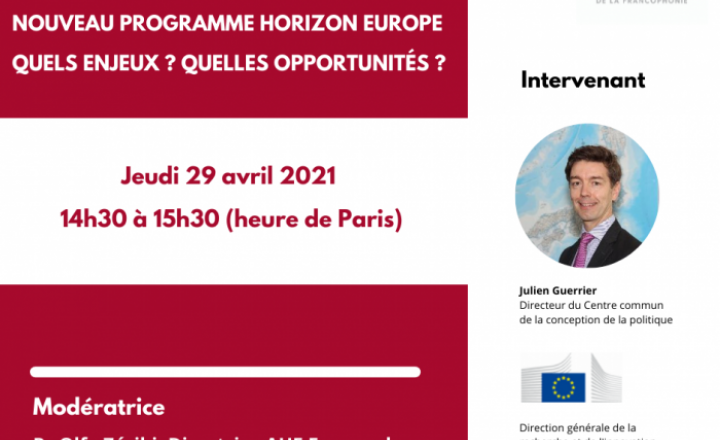 Webinar to discuss Horizon Europe challenges and opportunities