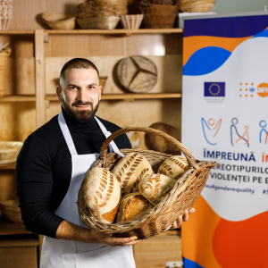 Fathers baking bread: breaking stereotypes and promoting gender equality
