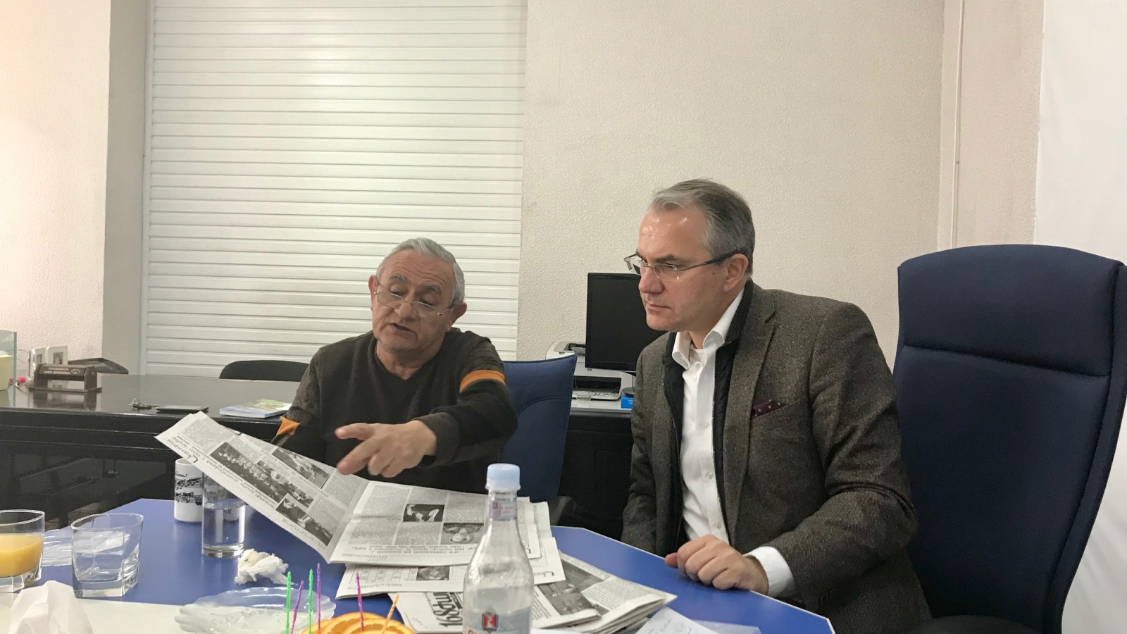 Media Hub trainer Veselin Vačkov during follow-up meetings with Armenian on-line media 'Aravot.am' in Yerevan