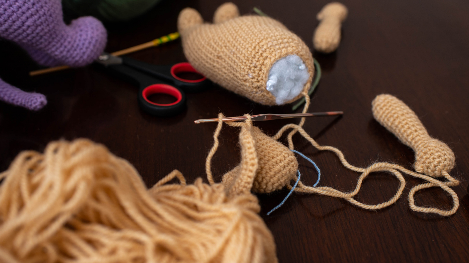 Dolls making in process