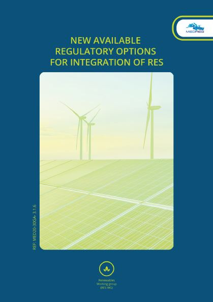 MEDREG publication: New Available Regulatory Options for Integration of RES