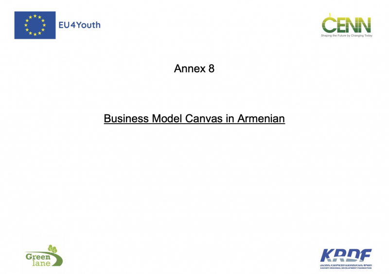 EU4Youth in Armenia: Business Model Canvas